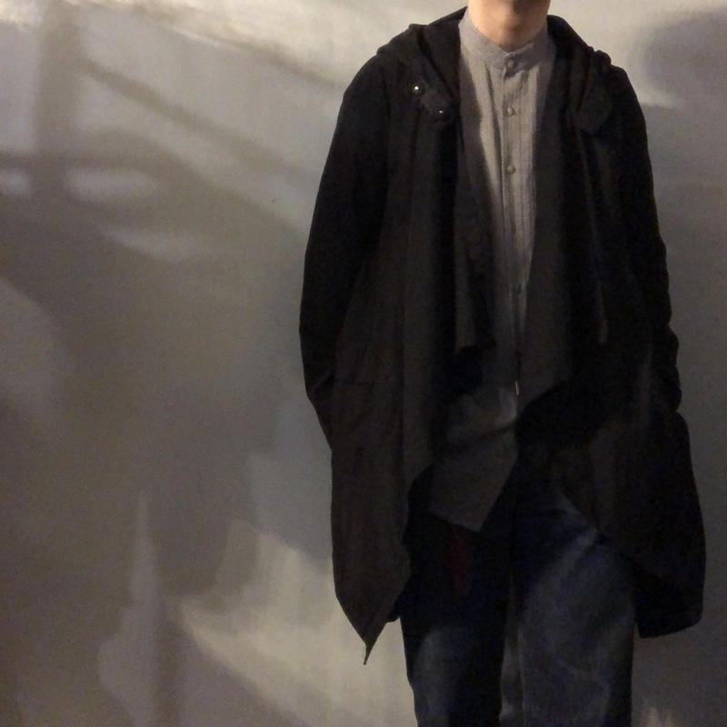 ブラック 変形デザイン ジャケット / 古着 ビンテージ