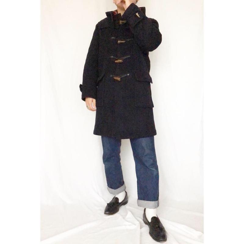 Vintage イングランド製 gloverall グローバーオール  ネイビー ウールダッフルコート / 古着 ビンテージ