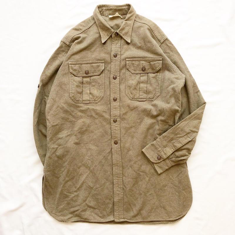 1950's~1960's US ARMY カーキ ウールシャツ / 古着 ビンテージ