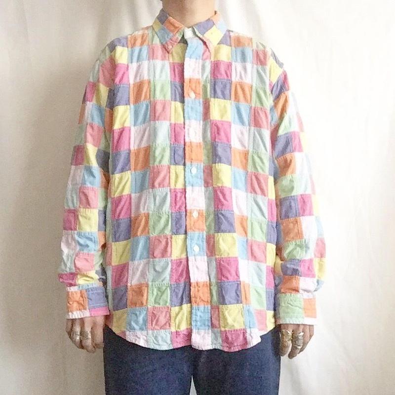 Brooks Brothers ブルックスブラザーズ ボタンダウン パッチワークシャツ/古着 ビンテージ