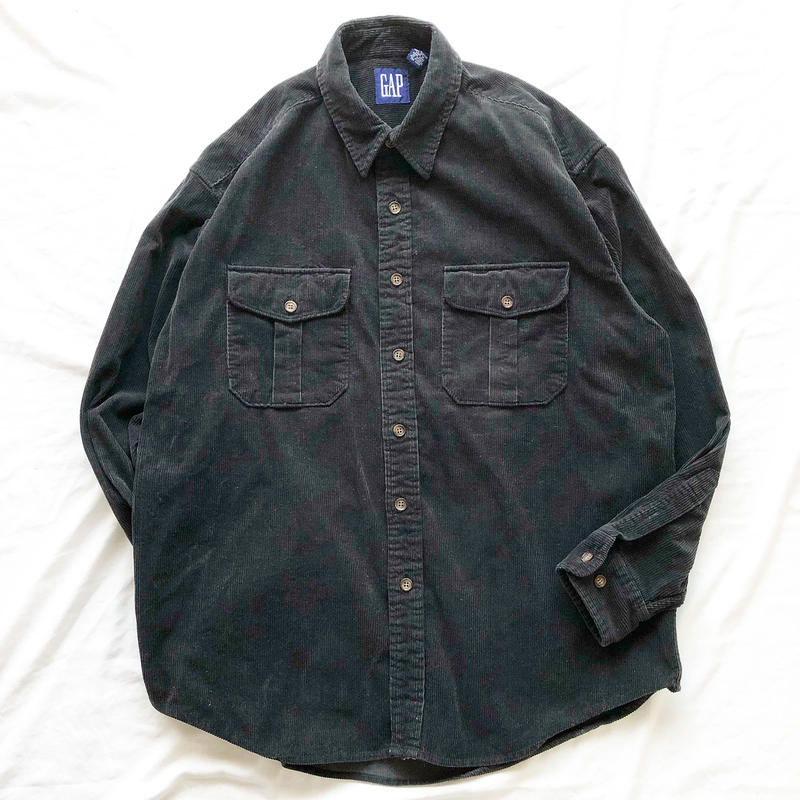 1990's~ old GAP ブラック コーデュロイシャツ / 古着 ビンテージ
