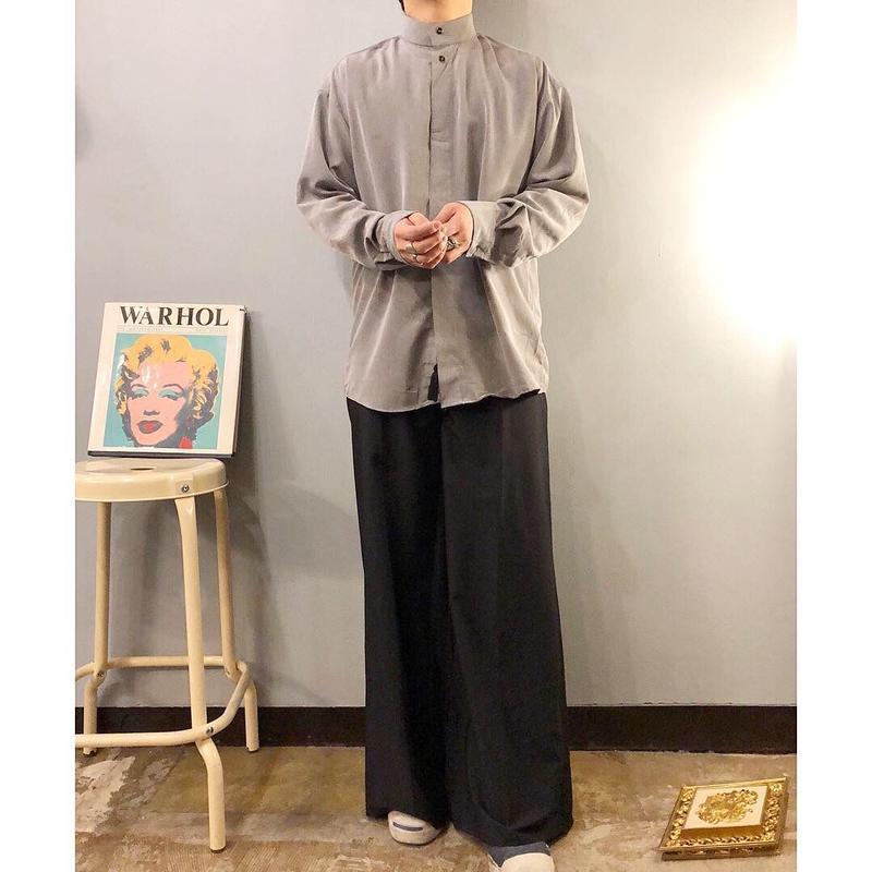 old  ブラック タッセル付き ワイドパンツ / 古着  ビンテージ