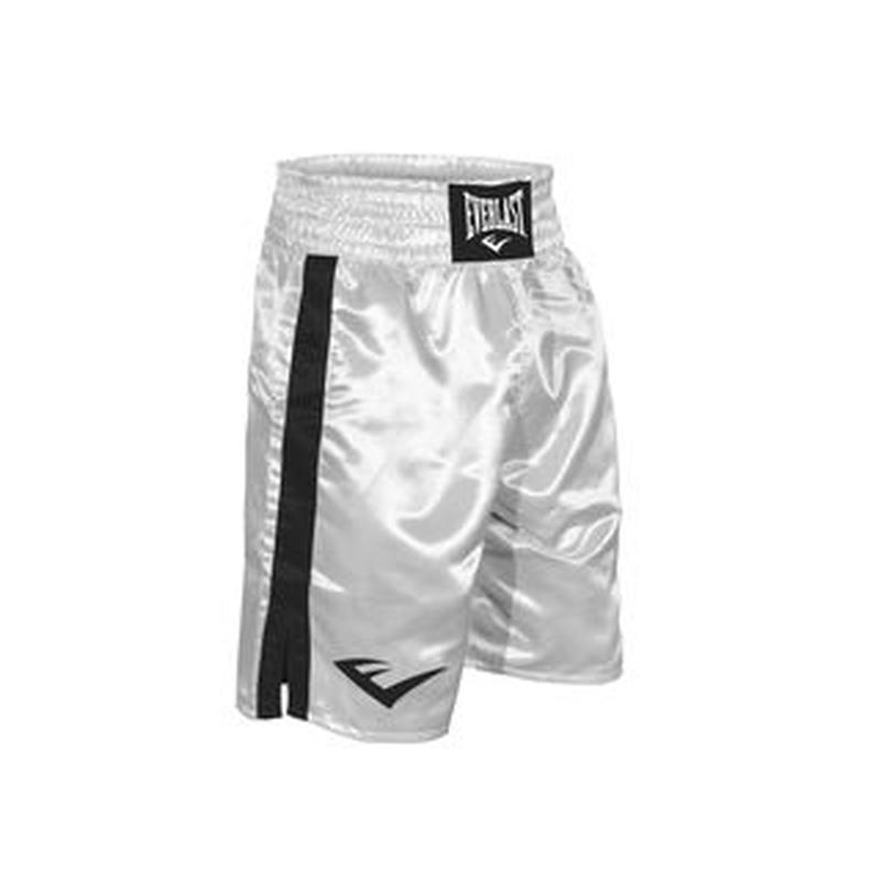 "BOXING TRUNKS, 24"" LENGTH(WHITE×BLACK)"