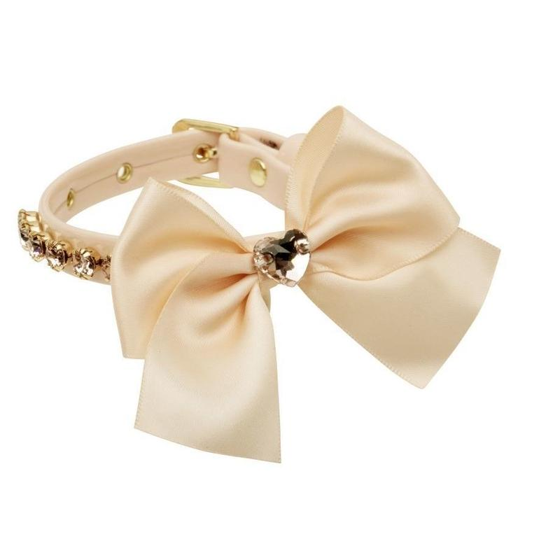 "COLLAR ""MELANIA""   APRICOT ROSE"