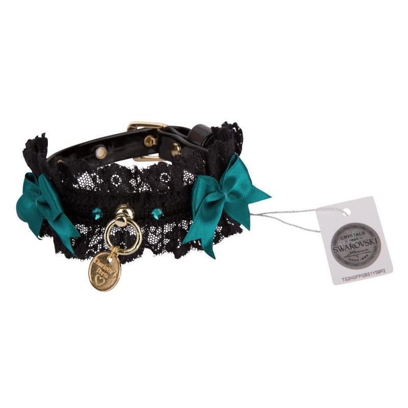 Collar 1.2cm SHARON black/petroleum