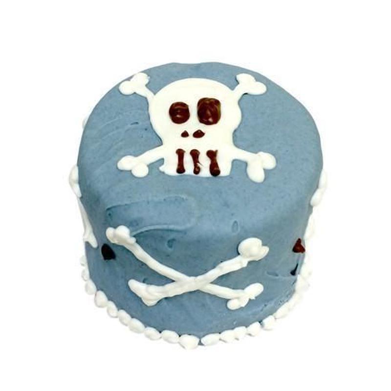 Blue Skull Baby Cake