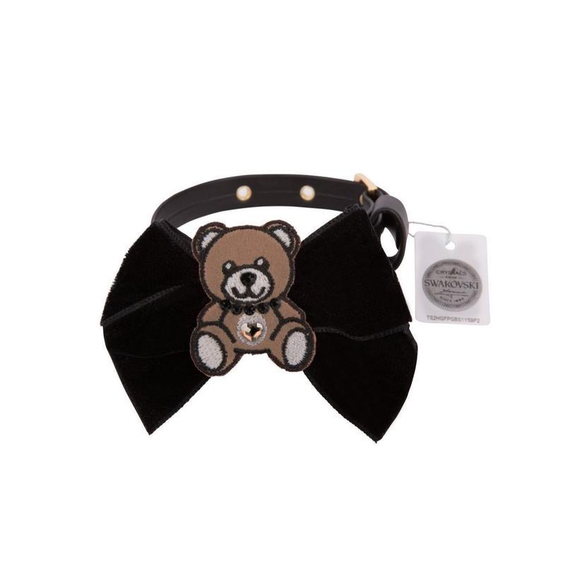 Collar 1.2cm TEDDYBEAR black