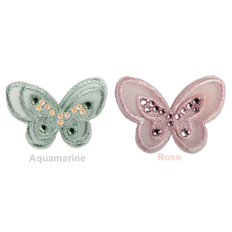 Art A75 hariclip Sweet butterfly-acqua green