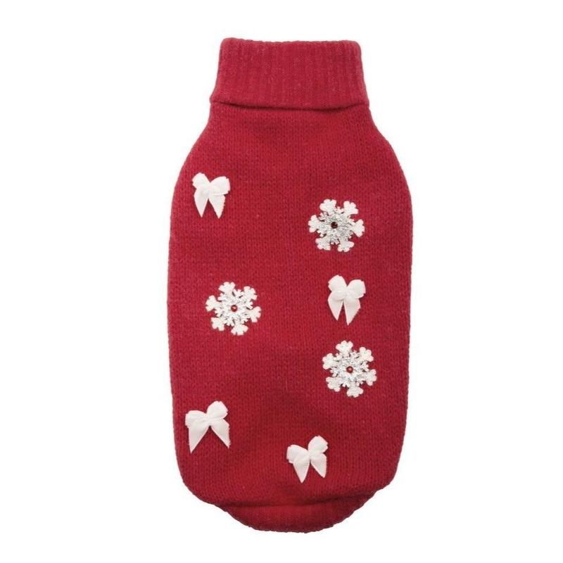 Sweater SNOWFLAKE red