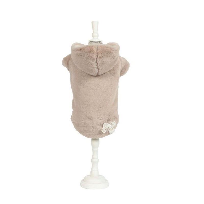 Art 1068 coat Eco-fur Zelda-turle dove