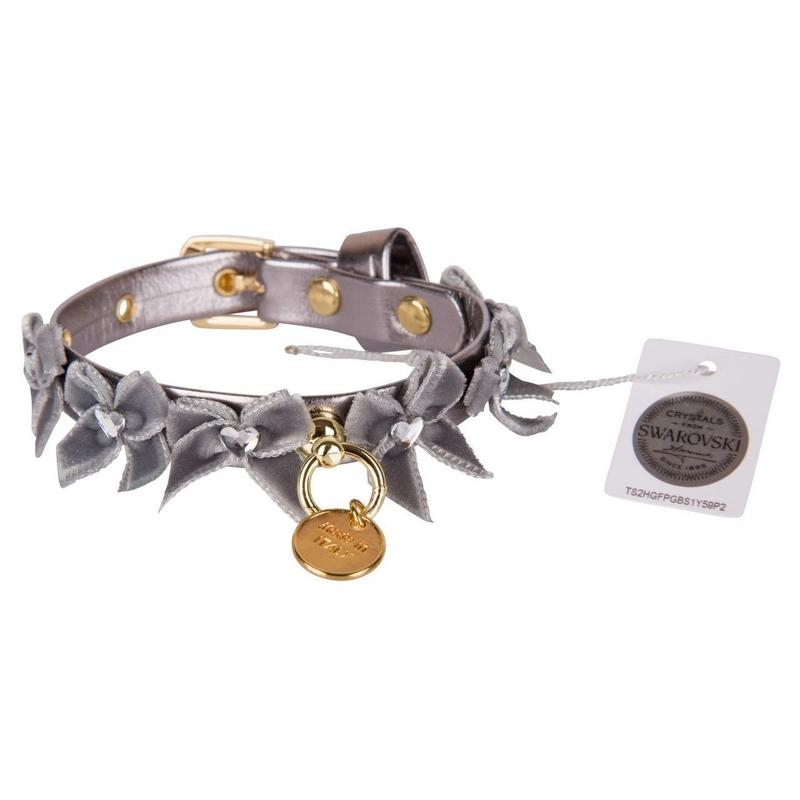 Collar 1.2cm LIUBA metallic gray
