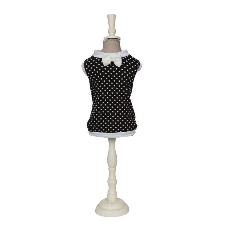 5071 T-SHIRT JULIO-WHITE POLKA DOTS/BLACK PATTERN