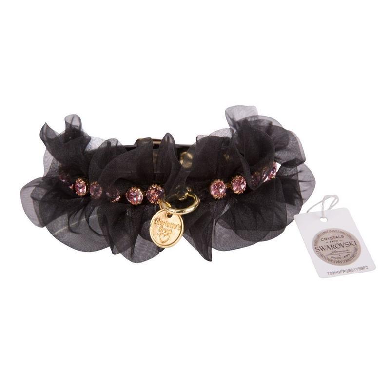 Collar 1.2cm MELIJOE lacquer black