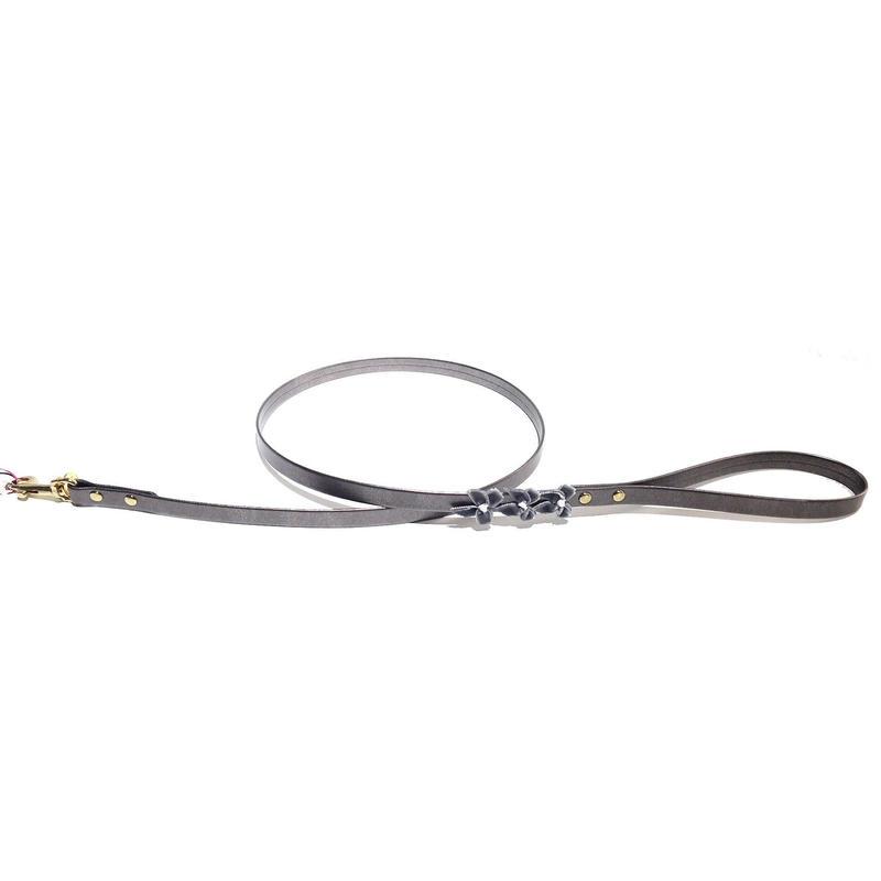 Leash 1.2cm LIUBA metallic gray