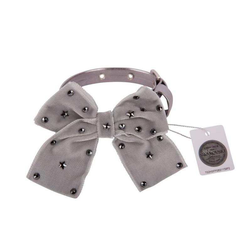 Collar 1.2cm SPARKLING STAR metallic gray
