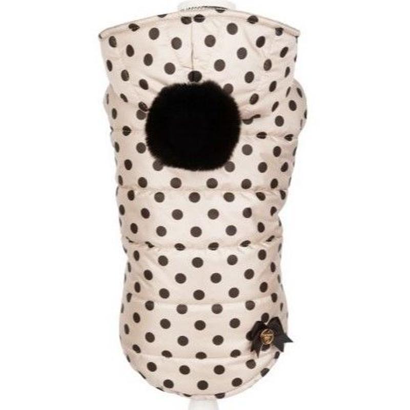 Coat CELINE beige with black polka dots