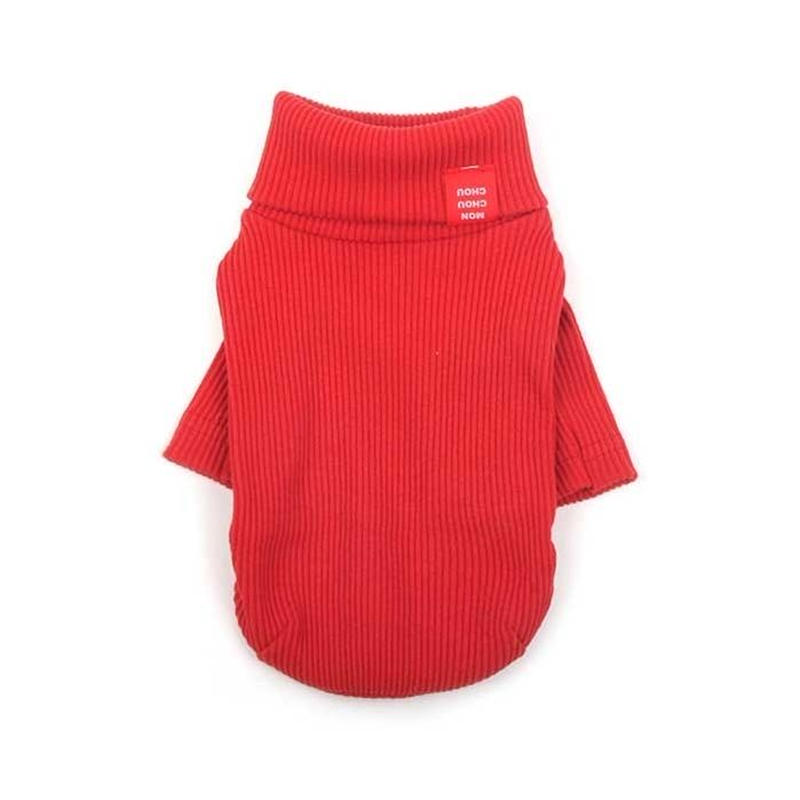 Daily Turtleneck Top  Red