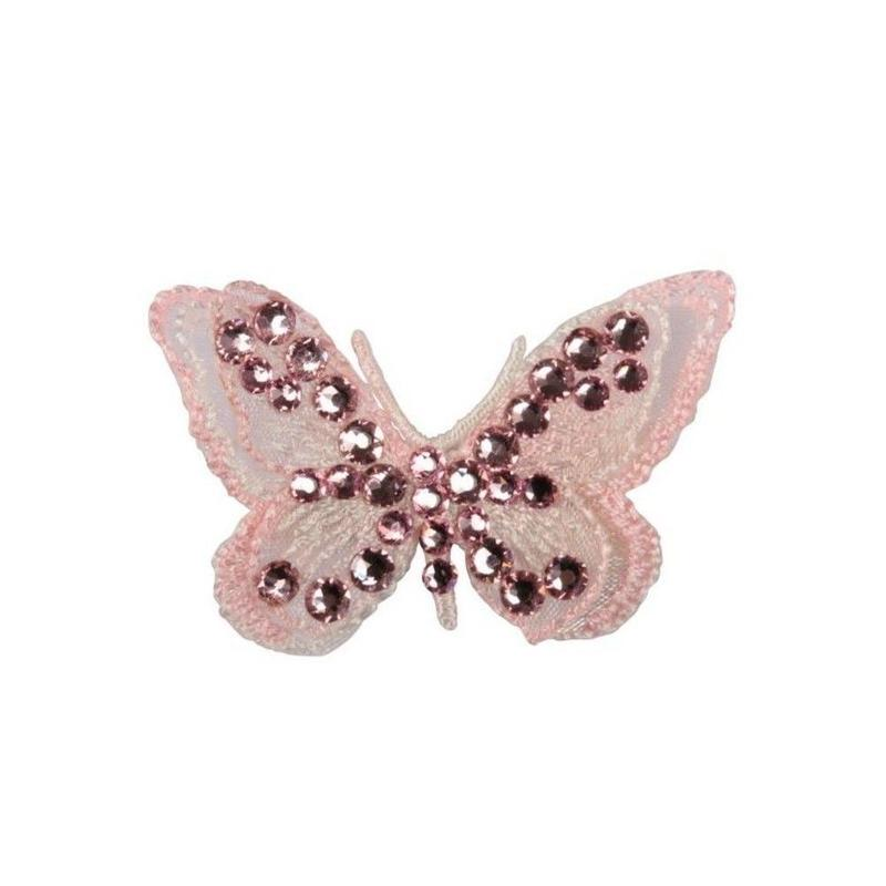 Art A74 hairclip  Butterfly in black and pink
