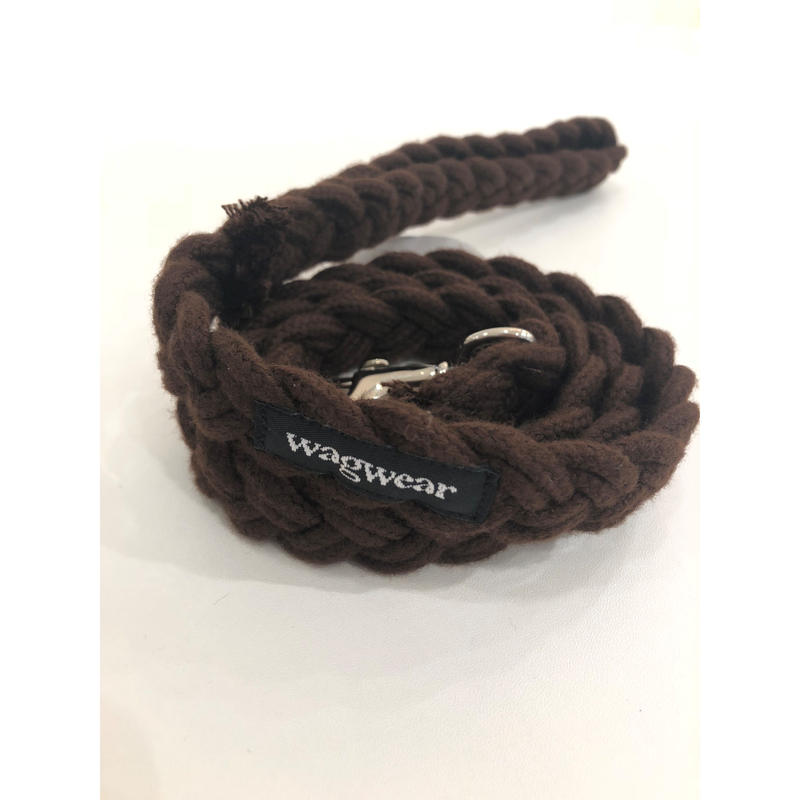 Braided Fisherman Leash_Brown