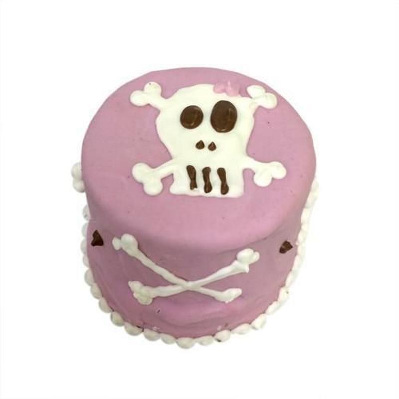 Pink Skull Baby Cake