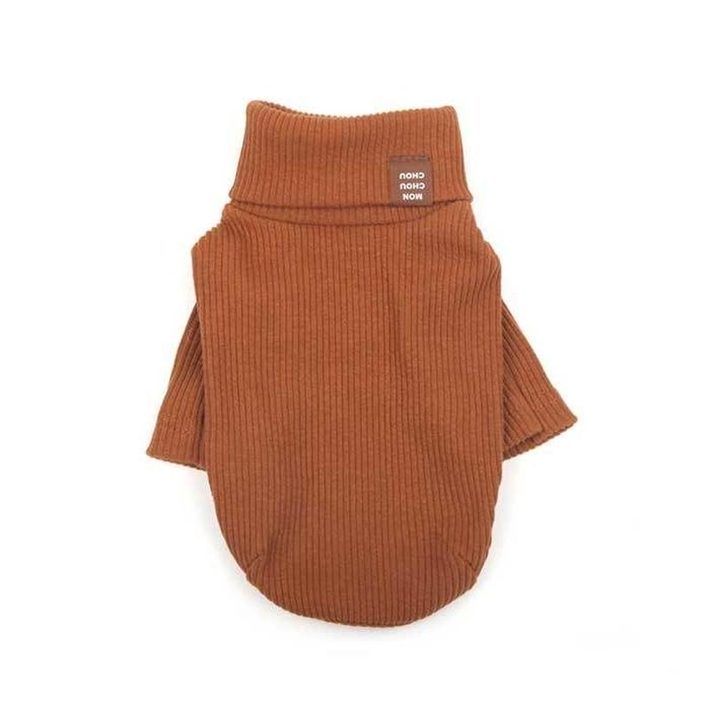 Daily Turtleneck Top  Brown