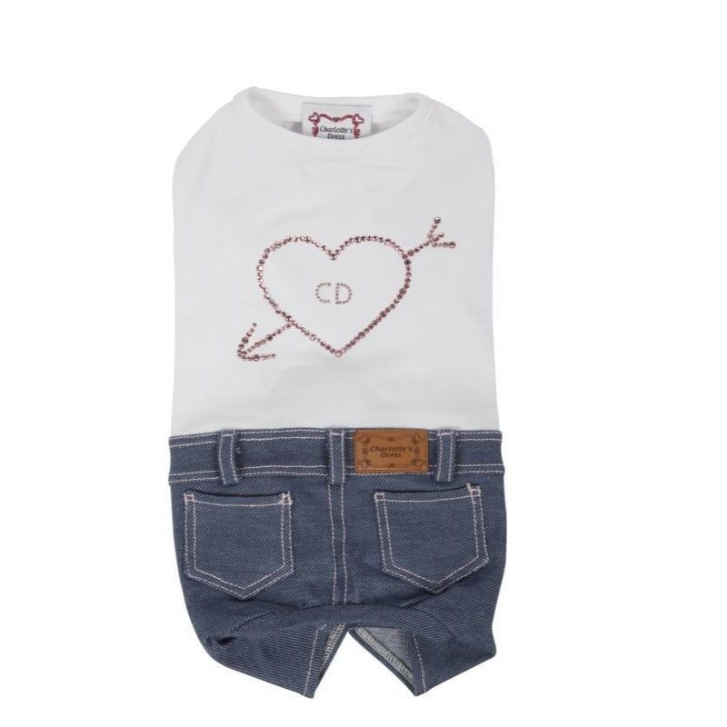 4022 TRACKSUIT RUBACUORI-JEANS/WHITE WITH PINK HEART