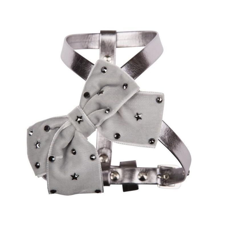 Harness 1.2cm SPARKLING STAR metallic gray