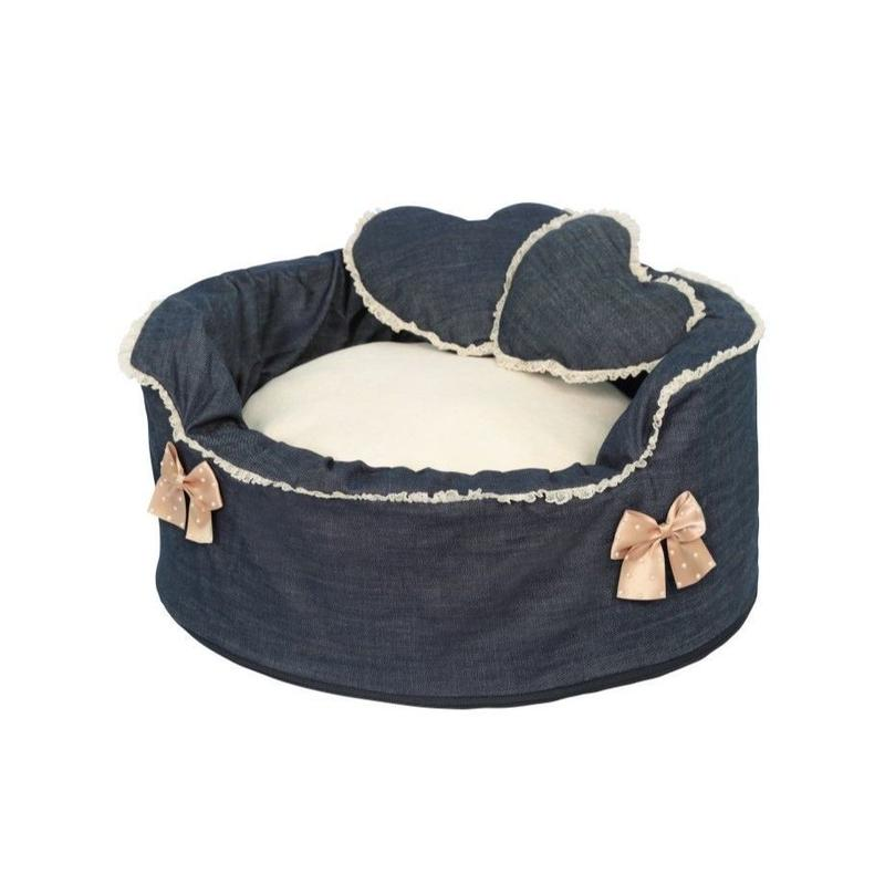 "DOG BED ""NOA"" BLUE JEANS   S"