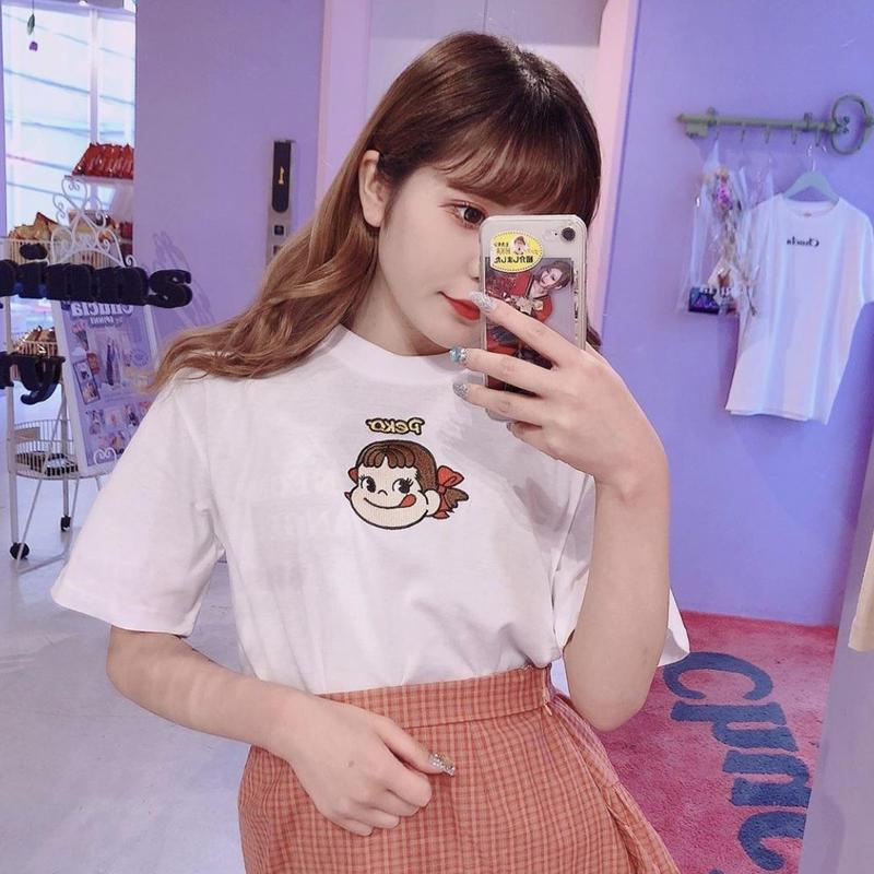 PECOちゃん刺繍Tシャツ(©︎2019 FUJIYA)