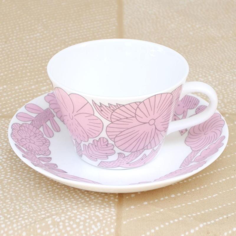 グスタフスベリ Gustavsberg X 鹿児島睦 アプリール カップ&ソーサー(ピンク)新品