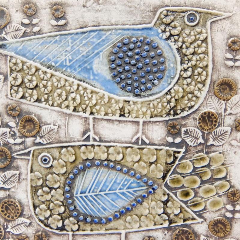 ヴィンテージ リサ・ラーソン Lisa Larson 陶板(鳥)
