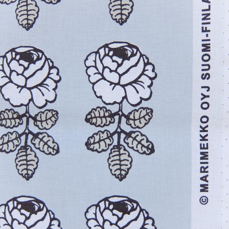 菅原様お取り置き商品 マリメッコ marimekko <Vihkiruusu>ファブリック(ブルーグレー)50cm 日本限定