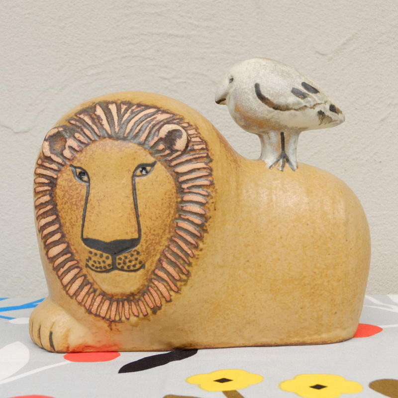 リサ・ラーソン Lisa Larson ライオンと鳥 現行品