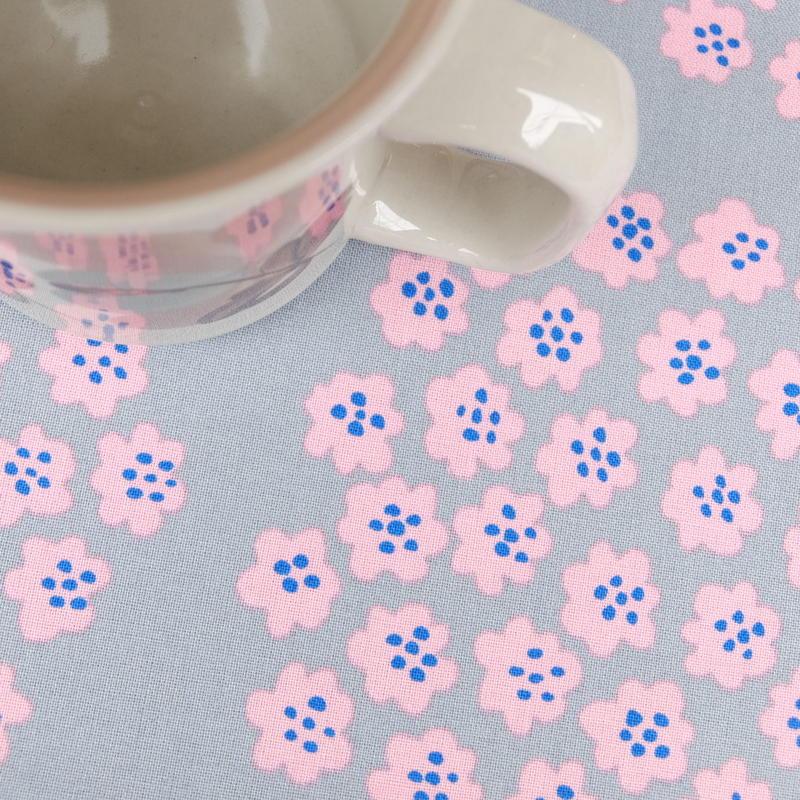 マリメッコ marimekko <Puketti>ファブリック(グレー×ピンク)50cm 日本限定  廃盤カラー