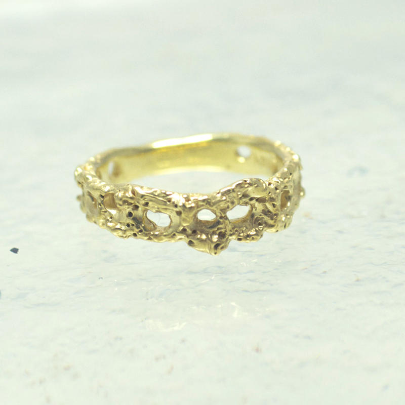 craft line ring 6 gold