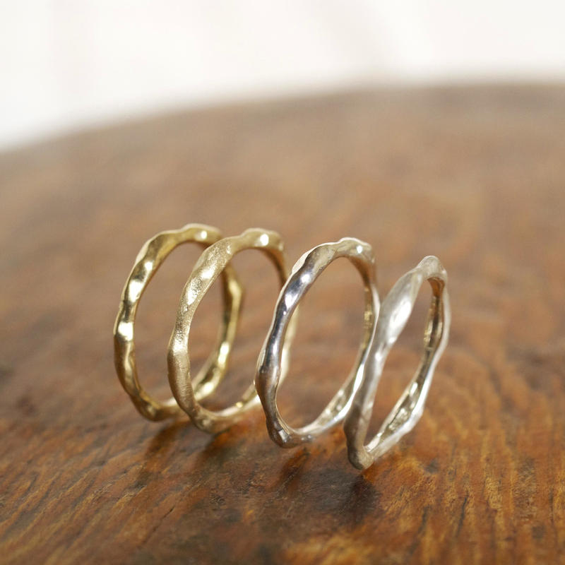 craft line rings 3 - ladies gold