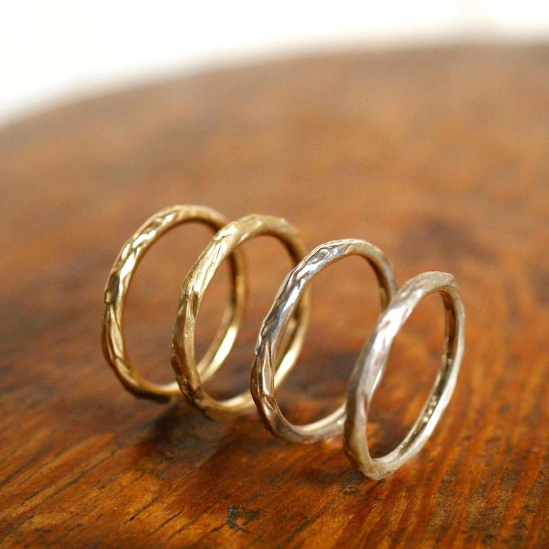 craft line rings 4 - ladies gold
