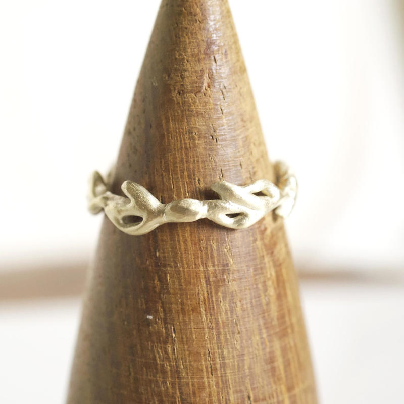 plant line rings - ladies gold