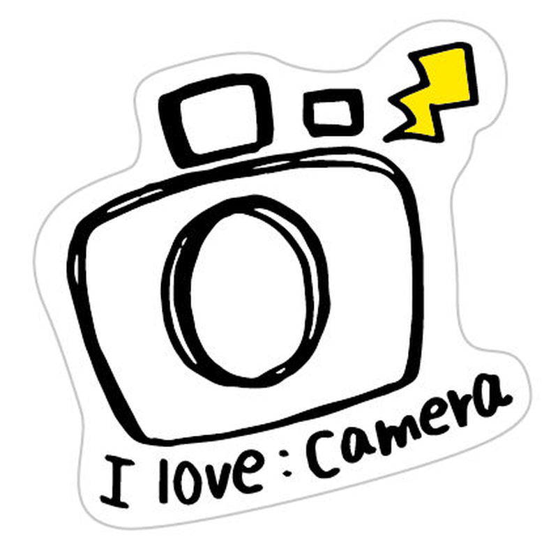 ステッカー カメラ(モノクロ)