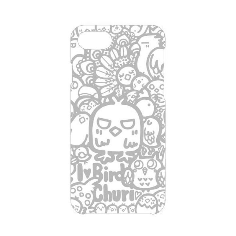 iPhoneケース(白×シルバー)