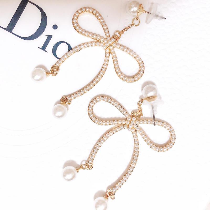 pearl ribbon pierce(No.31004)