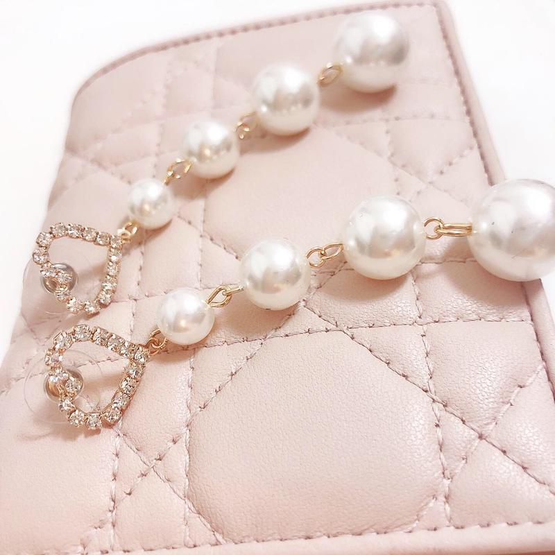long pearl heart pierce(No.31011)