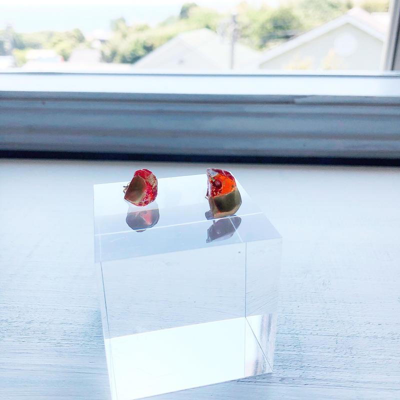 special jewelry/琉球ガラス/金継ぎ/k14gfピアス