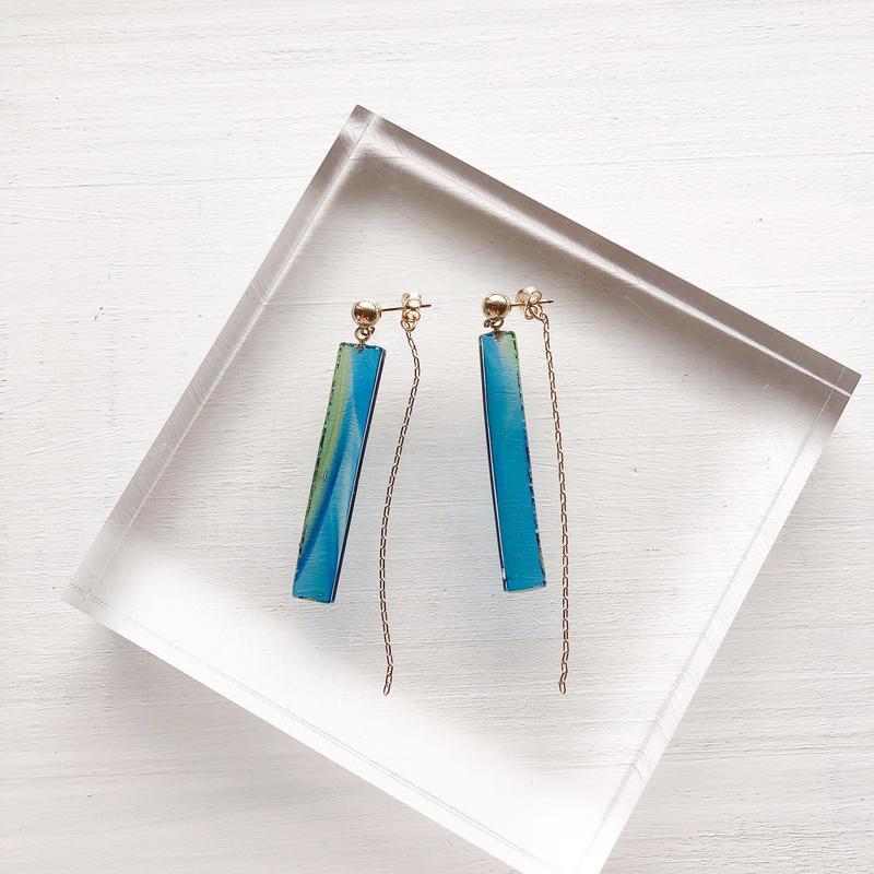 special jewelry/antiqueglass/k14gfピアス/真鍮イヤリング