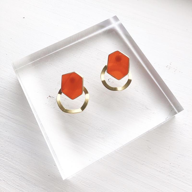 brass jewelry/k14gfピアス/真鍮イヤリング