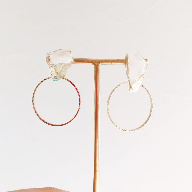 special jewelry/金継ぎ/k14gfピアス/真鍮イヤリング