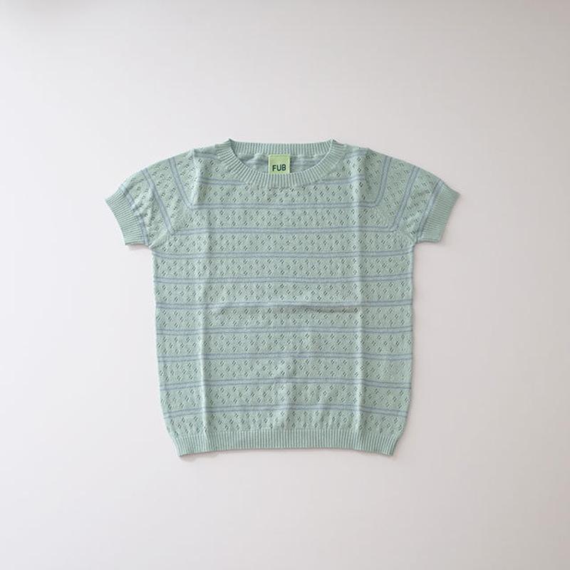 透かし編みTシャツ ocean/dusty blue (FUB) 100~130cm