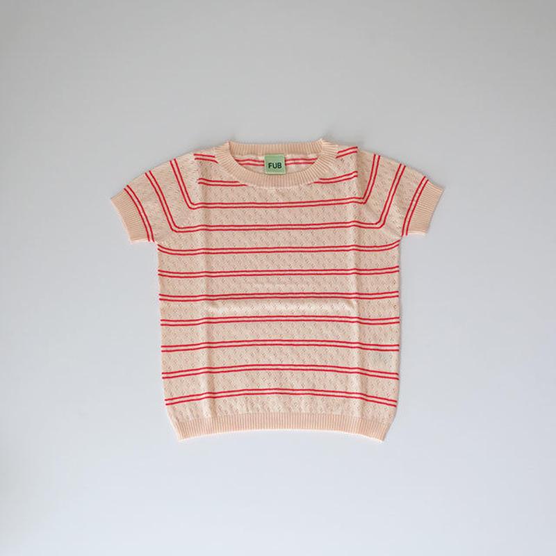 透かし編みTシャツ blush/red (FUB) 90~130cm