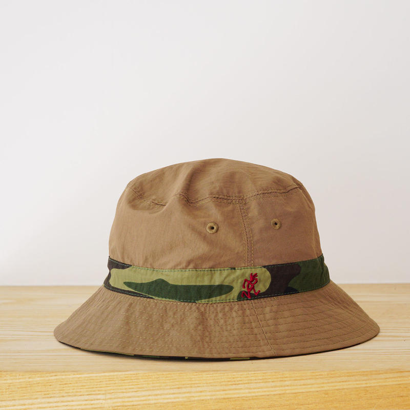 SHELL REVERSIBLE HAT CAMO×TAN  (GRAMICCI) KIDS 53cm