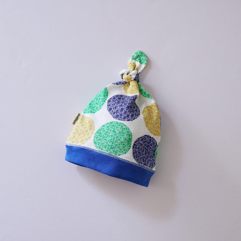 LOTS OF DOT BABY CAP GREEN  (marble SUD)